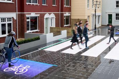 【イギリス】インタラクティブな交差点が見せる未来の道路環境