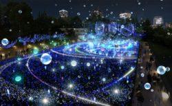 [にぎわいイベント]東京ミッドタウンの今年のイルミネーションは45万球の'しゃぼん玉イルミネーション'11/13から開催