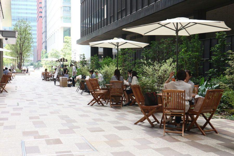 公開空地を利用してwithコロナのオフィスエリアをアップデート|大手町プレイス|Soto de Lunch(ソトデランチ)レポート
